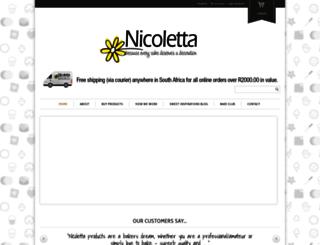 nicoletta.co.za screenshot