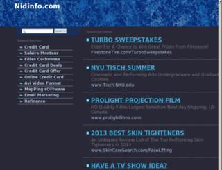 nidinfo.com screenshot