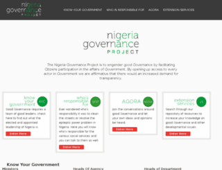 nigeriagovernance.org screenshot