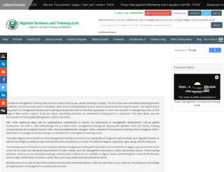 nigerianseminarsandtrainings.com screenshot
