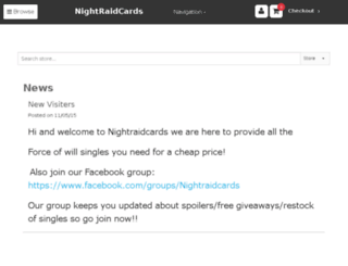 nightraidcards.crystalcommerce.com screenshot