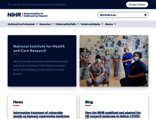 nihr.ac.uk screenshot