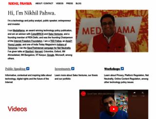 nikhilpahwa.com screenshot