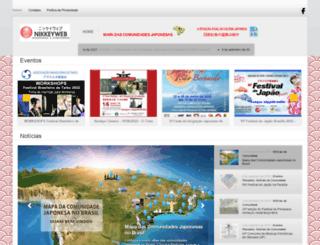 nikkeyweb.com.br screenshot