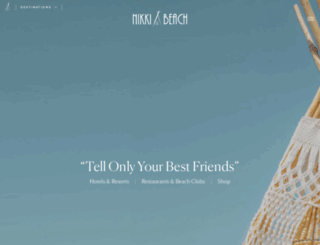 nikkibeachhotels.com screenshot