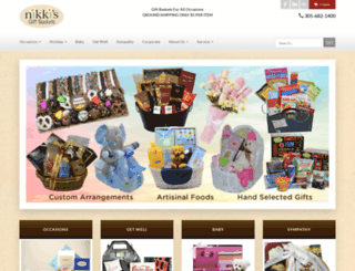 nikkisgiftbaskets.com screenshot