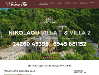 nikolaou-villa.gr screenshot