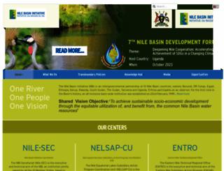 nilebasin.org screenshot