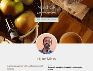 nileshgr.com screenshot