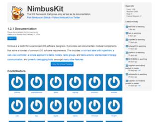 nimbuskit.info screenshot