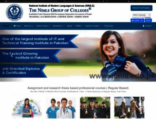 nimls.edu.pk screenshot