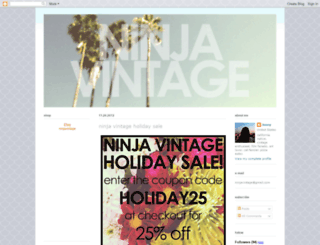 ninjavintage.blogspot.com screenshot