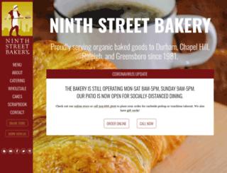 ninthstbakery.com screenshot