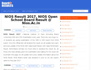 nios.boardsresults.in screenshot