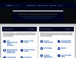 nipr.com screenshot