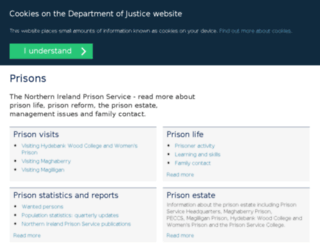 niprisonservice.gov.uk screenshot