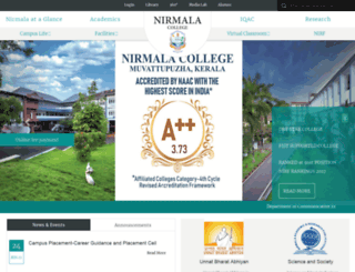 nirmalacollege.ac.in screenshot