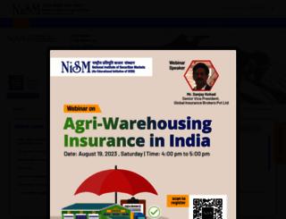 nism.ac.in screenshot