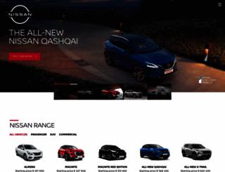 nissan.co.za screenshot