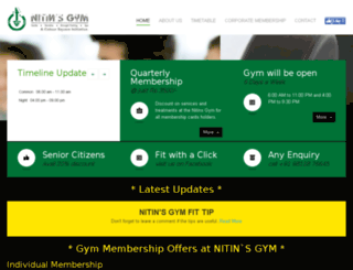 nitinsgym.com screenshot