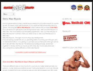nitricmusclemax.com screenshot