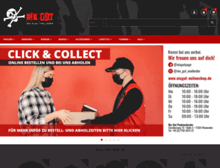 nixgut-onlineshop.de screenshot