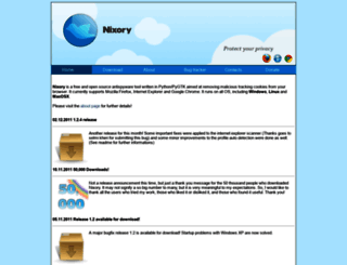 nixory.sourceforge.net screenshot