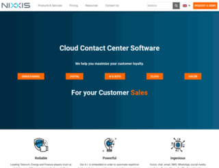 nixxis.com screenshot