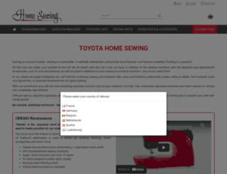 nl.home-sewing.com screenshot