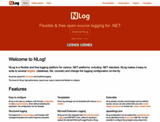 nlog-project.org screenshot