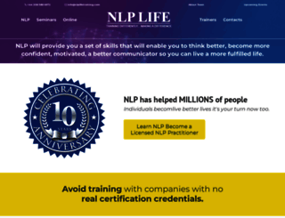 nlplifetraining.com screenshot