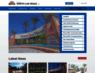 nlv-web1.cityofnorthlasvegas.com screenshot
