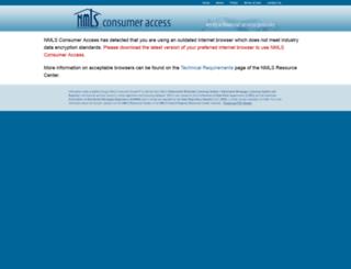nmlsconsumeraccess.com screenshot