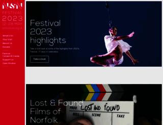 nnfestival.org.uk screenshot