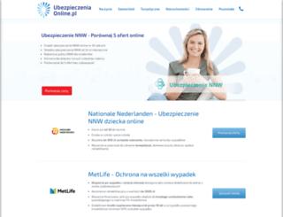 nnw.ubezpieczeniaonline.pl screenshot
