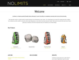 no-limits.myshopify.com screenshot
