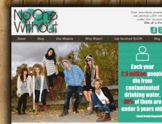 no1without.com screenshot