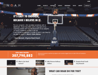 noahbasketball.com screenshot