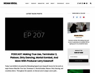 noamkroll.com screenshot