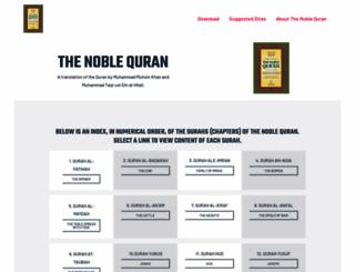 noblequran.com screenshot