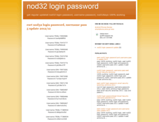 nod32loginpassword.blogspot.com screenshot