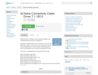 nokia-connectivity-cable-driver.updatestar.com screenshot