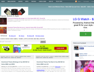 nokia5800downloads.blogspot.com screenshot