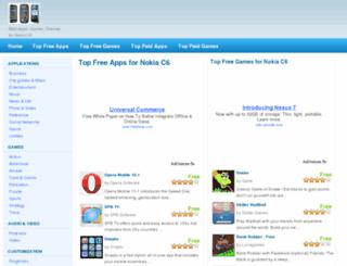 nokiac6apps.com screenshot