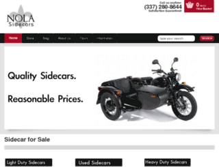 nolasidecars.com screenshot