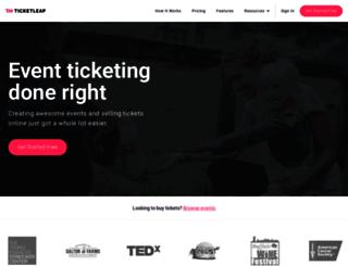 nols50th.ticketleap.com screenshot