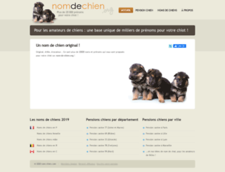 nom-chien.com screenshot