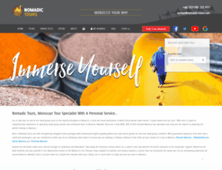 nomadic-tours.com screenshot