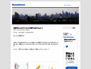 nomadshare.wordpress.com screenshot
