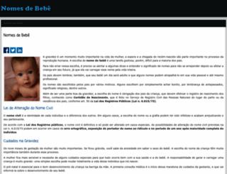nomes-de-bebe.info screenshot